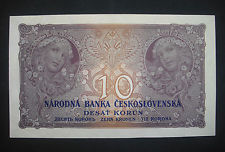 Image for CZECHOSLOVAKIA 10 korun 1927 ,a UNC, NOT PERFORATED,no perforation, Alfons Mucha