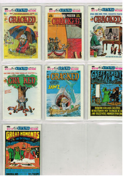 Image for Cracked trading cards:lot of 7
