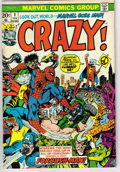 Image for CRAZY! #1,Feb.,1973