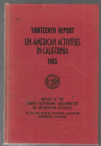 Image for Thirteenth report:Un-american activities in California 1965