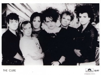 "Image for The Cure press photo B&W  8 1/2"" X 6"""