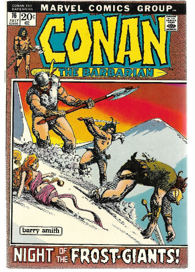 Image for CONAN THE BARBARIAN #16   1970-1994 |  VOLUME 1 |  MARVEL