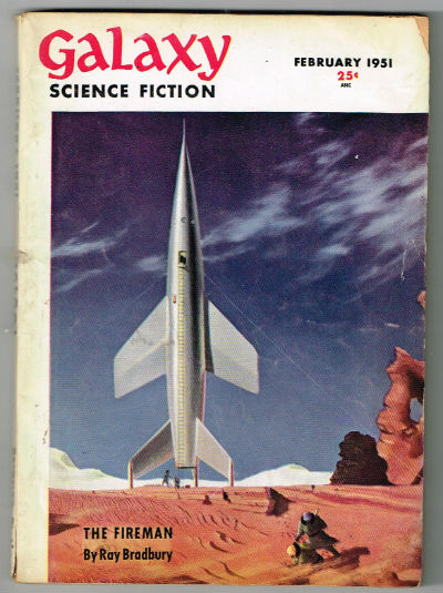 Image for Galaxy Science Fiction: February 1951: the Fireman    Bradbury, Ray; Cerutti, Vera