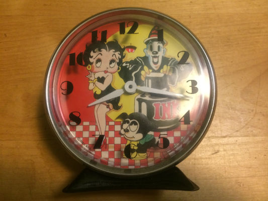 Image for Betty Boop alarm clock with Koko the Clown and Bimbo,Doesn't work