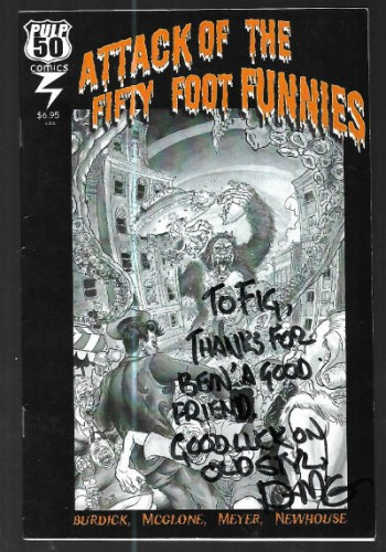 Image for attack of the fifty foot funnies-signed