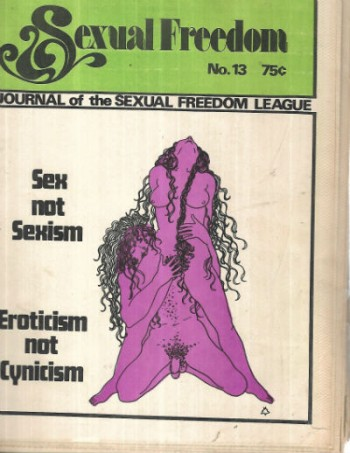 Image for sexual freedom journal of the sexual freedom league no.13