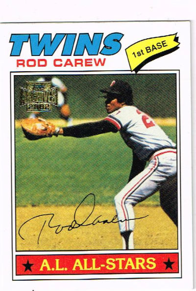 Image for Twins:Rod Carew Trading card