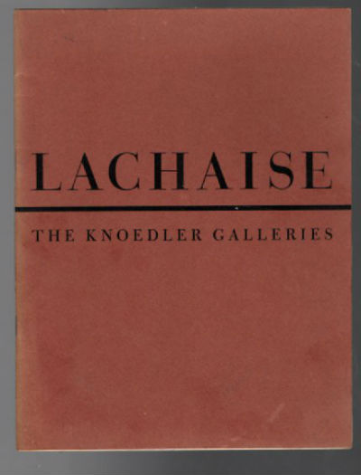Image for Gaston Lachasie: Knoedler Galleries, 1947