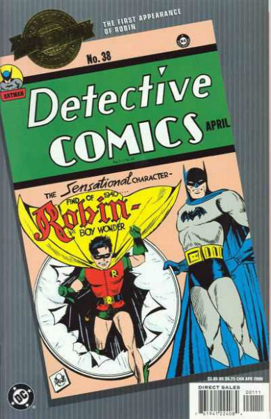 Image for Batman Detective Comics #38 1st Robin Appearance (Millennium Edition) Comics – 2000  by Bob Kane (Author), Jerry Robinson (Illustrator)