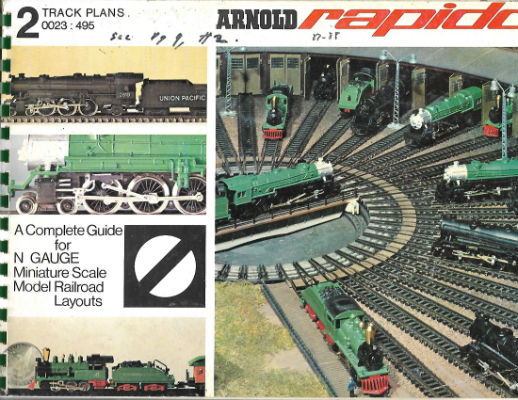 Image for ARNOLD RAPIDO 0023 2 TRACK PLANS : Model Railroading Handbook 1970 ENGL X03-1370   ARNOLD RAPIDO 0023 2 TRACK PLANS : Model Railroading Handbook 1970