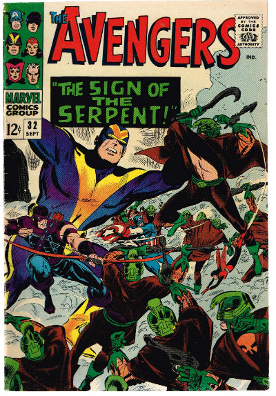 Image for the Avengers #32,Sept.,1966