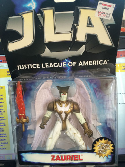 "Image for JUSTICE LEAGUE OF AMERICA ZAURIEL 5"" FIGURE W/ STAND!"