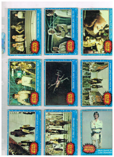 Image for 1977 Vintage Topps Star Wars 1st Series 1 Complete 66 Blue Trading Card Set VG+