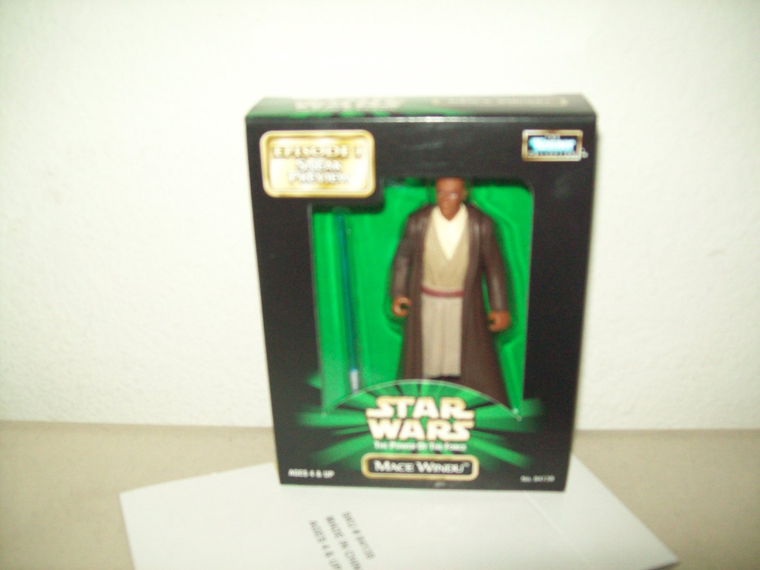 Image for Star Wars: The Power of the Force Episode I Sneak Preview Mace Windu 4 inch Action Figure