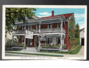 Image for Vintage Postcard:Brick House Tourist Home;Laceyville,Pa.
