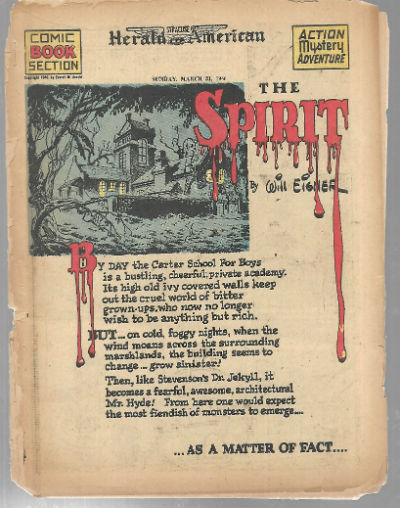 Image for The Spirit:Herald Examiner comic book section March 31,1946