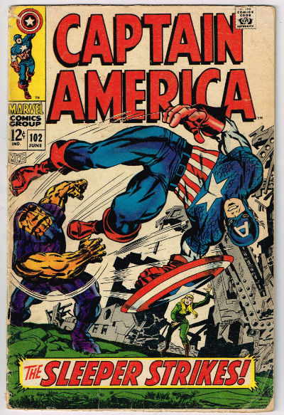 Image for CAPTAIN AMERICA #102   1968|  VOLUME 1 |  MARVEL