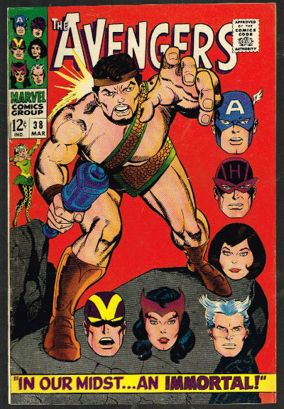 Image for the Avengers #38,March,1967