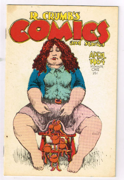 Image for R. CRUMB'S COMICS And Stories. April 1964. Number One1st print June 1969 has no cover price. Has smooth, glossy heavy stock cover.
