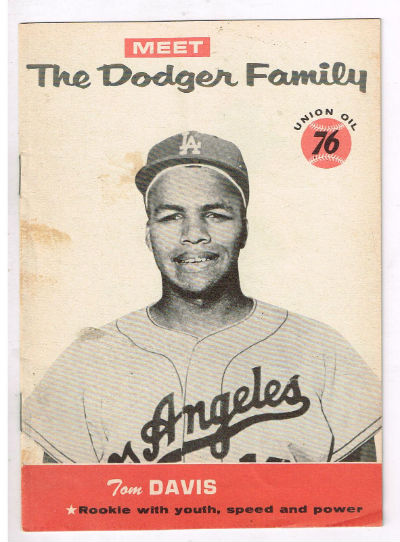 "Image for Tom Davis;Meet the Dodger Family,""...the fleet,powerful Negro boy"""