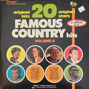 Image for 20 Famous Country Hits Volume 4  Label:  K-Tel International ‎– WV 320  Series:  20 Original Hits 20 Original Stars –  Format:  Vinyl, LP, Compilation, Stereo  Country:  US  Released:  1971  Genre:  Folk, World, & Country  Style:  Country