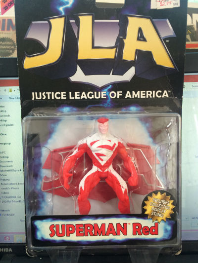 Image for Kenner JLA Superman Red Action Figure  Superman RED Includes Display Stand!, Manufacturer: KENNER