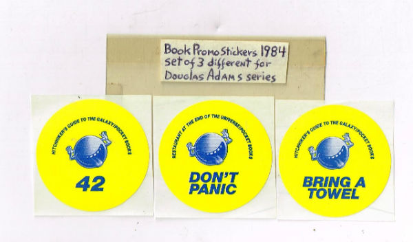 Image for Hitchhiker's guide to the galaxy book promo stickers(lot of 3)1984