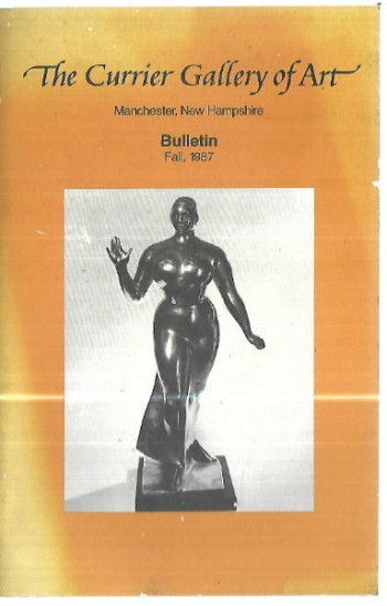 Image for The Currier Gallery of ART Bulletin,fall,1987:Gaston Lachaise Walking Woman statue highlighted!!