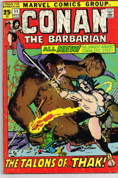 Image for CONAN THE BARBARIAN #11    1971 | VOLUME 1 | MARVEL