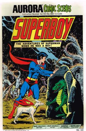 Image for Aurora Comic scenes  model kit no.186,1/8 scale  Superboy,the adventures of Superman when he was a boy
