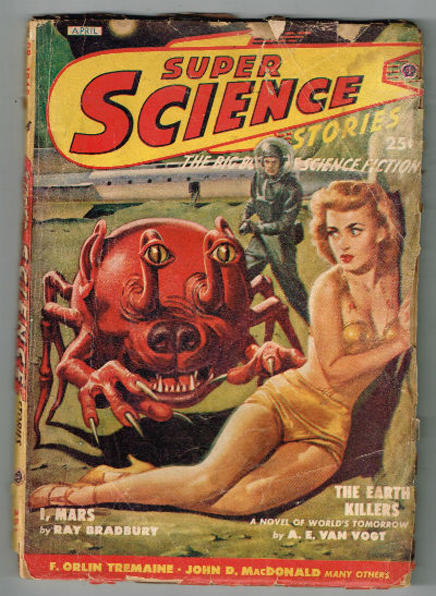Image for SuperScience Stories;april,1949  featuring;Ray Bradbury,A.E.Van Vogt