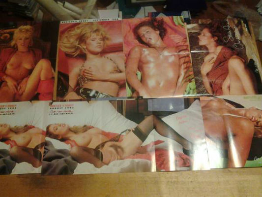 Image for Hustler lot of 7 3 panel pin-ups