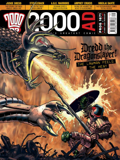 Image for 2000 AD PROG 1671   DREDD THE DRAGONSLAYER!  RELEASED 10TH FEB 2010