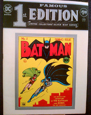 Image for DC Batman Famous 1st Edition Limited Collector's Silver MInt Series F-5