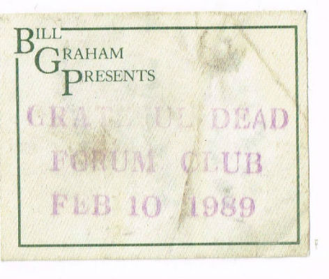 Image for Grateful Dead Forum Club passFeb.10,1989