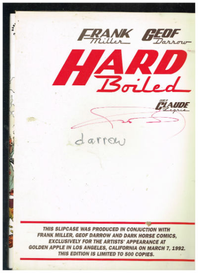 Image for Hard Boiled-signed by Darrow and Miller-slip cover 3 vol.