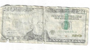 Image for $20 bill washed up on Venice beach