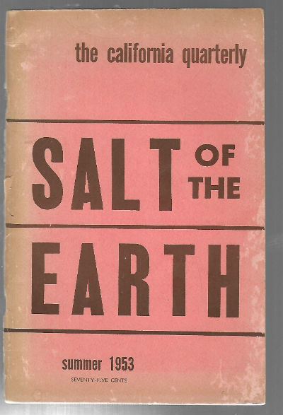Image for California Quarterly Summer 1953 Salt of the Earth Paperback – 1953  by Michael Wilson (Author)