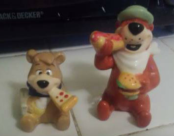 Image for Westland Giftware Yogi Bear Yogi and Boo-Boo Eating 3-1/2-Inch Magnetic Salt and Pepper Shakers