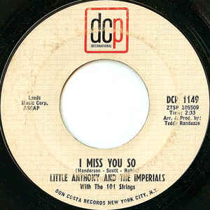 Image for  Little Anthony And The Imperials:I Miss You So