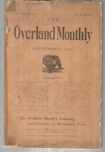 Image for the Overland Monthly;September 1888
