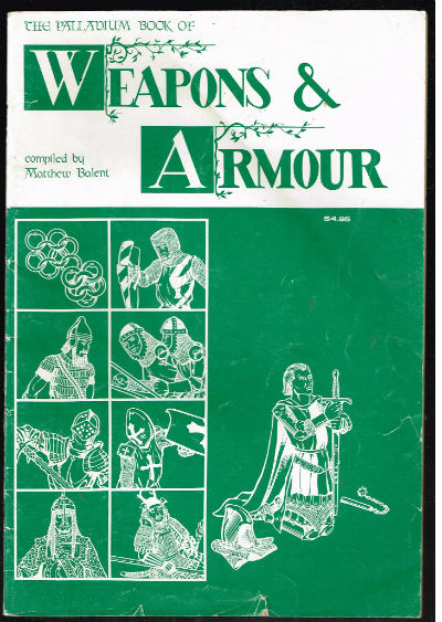 Image for The Palladium Book of Weapons and Armour. Deluxe Second Edition. 1981