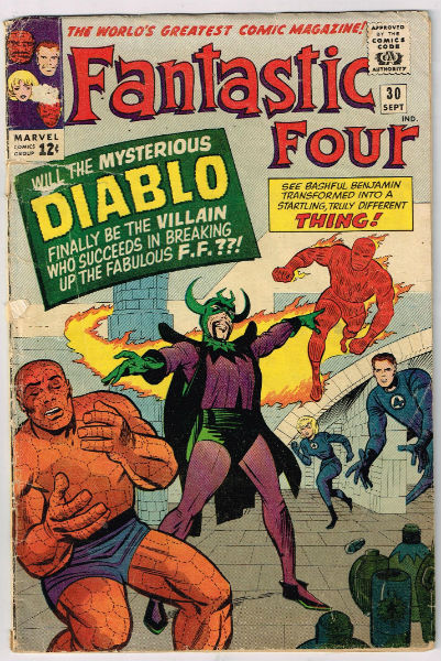 Image for Fantastic Four #30,sept.1964