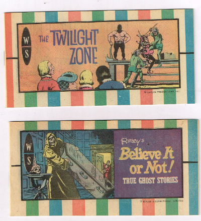 Image for 2 mini-comicbooks;the twilight zone,  1974  Ripley's believe it or not,1972
