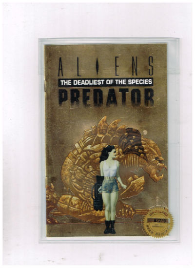 Image for Aliens Predator The Deadliest of The Species Ashcan Comic,Gold Foil Cover LTD.n