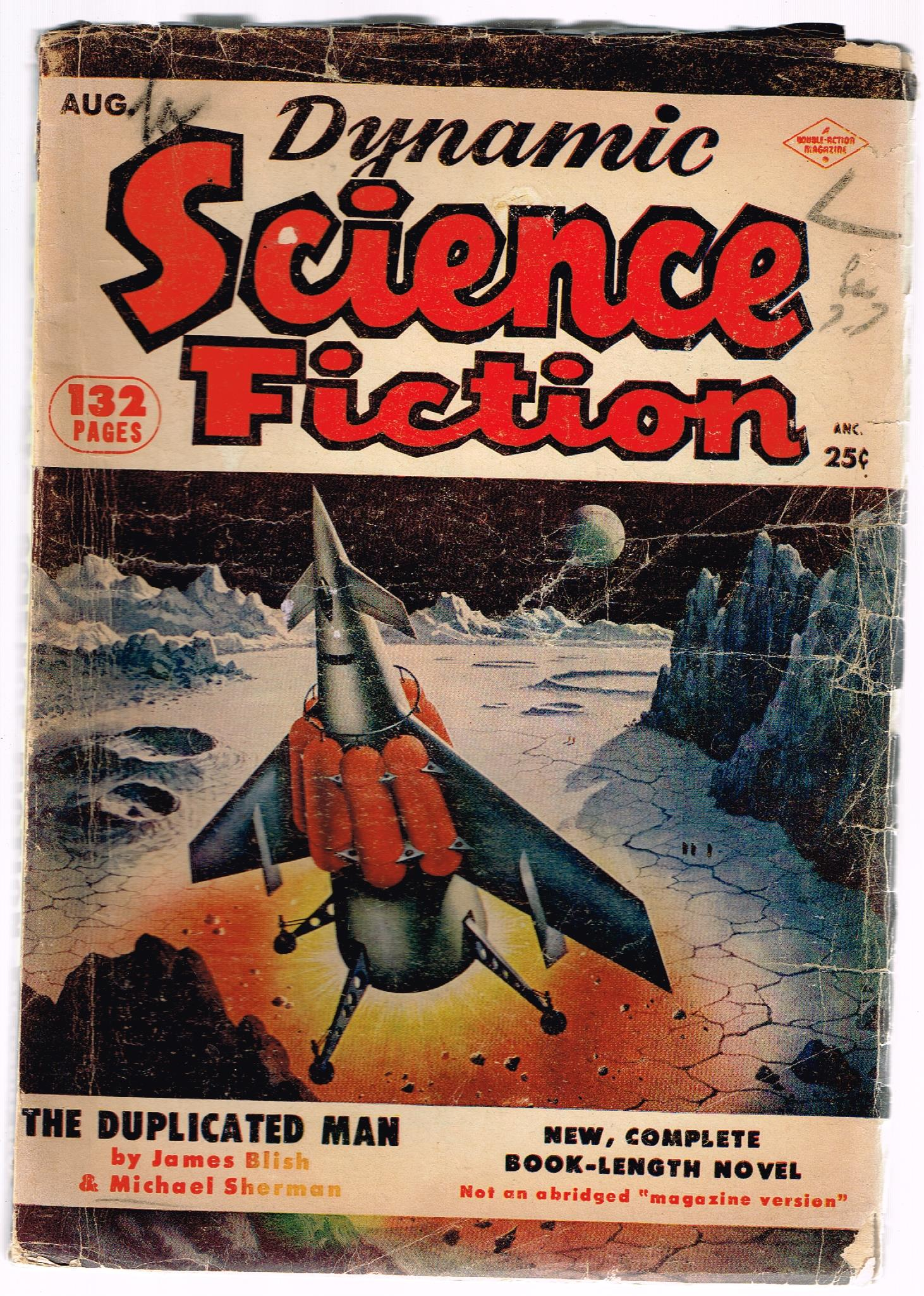 Image for Dynamic science fiction,aug.