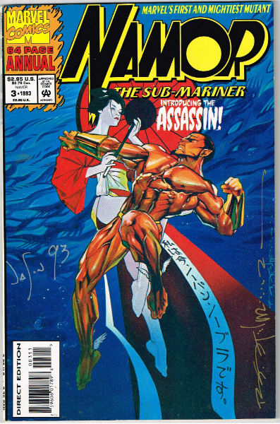 "Image for Namor,the Sub-mariner annual #3;1993-signed by 2, but i'm not sure by who?  ""introducing the assassin"""
