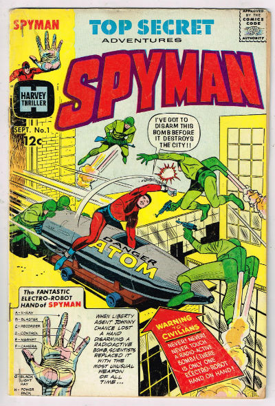 Image for Spyman #1;sept.,1966