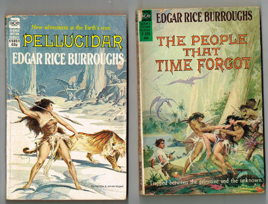 Image for Edgar Rice Burroughs:4 Ace novels with amazing Frazetta and Roy Krenkel jr.covers.