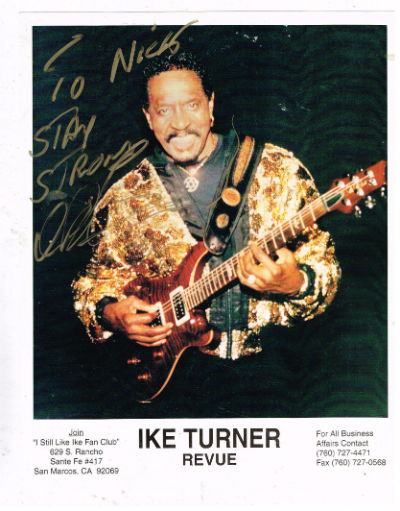 "Image for Ike Turner photo signed 8""x10"" color"